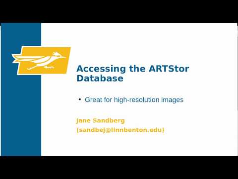 Accessing the ARTStor Database